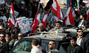 Mahmoud Ahmadinejad visits Beirut, October 2010