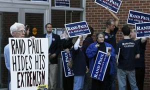 Rand Paul opponents and supporters