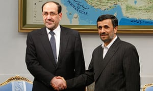 Nouri al-Maliki and Mahmoud Ahmadinejad in Tehran