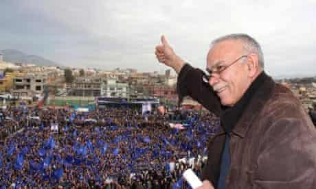 Kurdish Change movement rally in Suleimaniyah, Iraq, March 2010