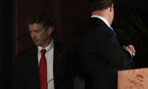 Rand Paul (left) avoids Jack Conway