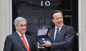 Chilean president Sebastian Pinera in London