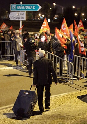 strikes in france: protests at bordeaux airport