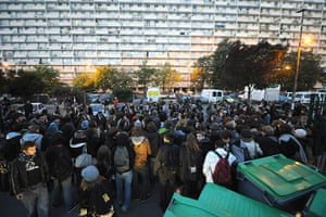 strikes in france: high school students protest in toulouose