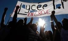 French students protest against pension reform in Nice