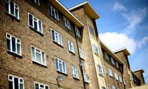 Council housing in Dagenham, east London