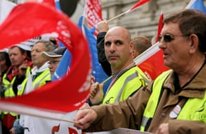 cuts protest in london: public sector unions in the UK demonstrate next to parliament