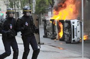 strikes in france: riots in Lyon