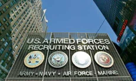 US military recruiting station
