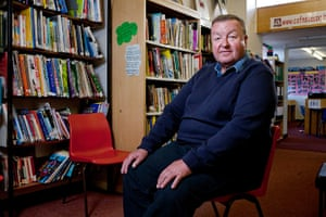Teaching Awards 2010: A man sits on a chair in a school library