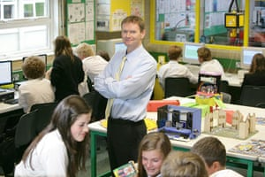 Teaching Awards 2010: A male teacher stands amongst pupils taking part in a class