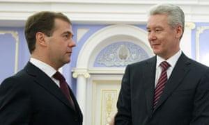 Sergei Sobyanin and Dmitry Medvedev