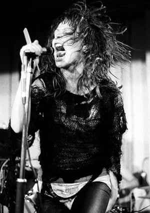 Ari Up of The Slits: Ari Up performing with The Slits in concert