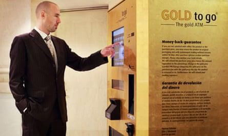Gold plated ATM machine, Westin Palace Hotel, Madrid