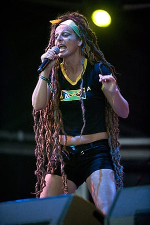 Ari Up of The Slits: Ari Up of The Slits performs on stage