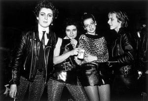 Ari Up of The Slits: The Slits, Tessa Pollitt, Palmolive, Ari Up and Viv Albertine, in 1977
