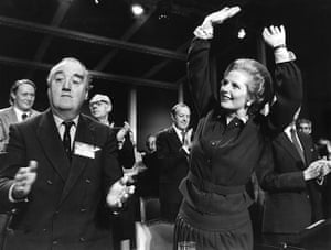 Margaret Thatcher: 1974: Margaret Thatcher with William Whitelaw and the party conference