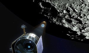Artist's impression of the LCROSS lunar mission