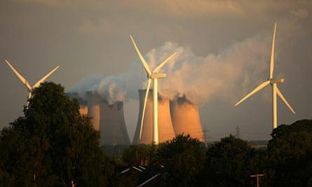 Wind Turbines Erected Next To Eurpoes Biggest Coal Powered Power Station