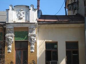 Samara Architecture: A damaged art noveau building in Samara, Russia