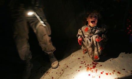 Samar Hassan screams after her parents were shot by US troops. They failed to stop at a checkpoint