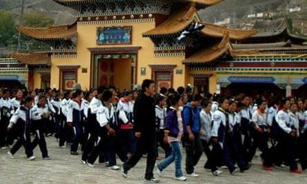 Tibetan student language protests