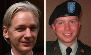 Wikileaks founder Julian Assange and American dissident soldier Bradley Manning