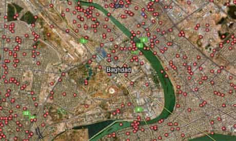 Iraq war logs deaths mapped graphic
