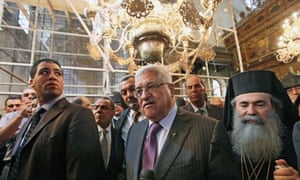Palestinian Authority President Mahmud Abbas visits the Church of the Nativity