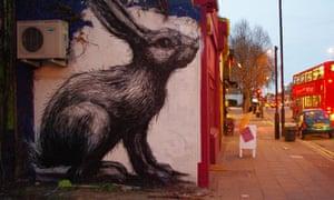 ROA's rabbit in Hackney