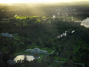 London Future images: The sunset over Kew Gardens catches Londons brand new nuclear power station