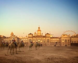 London Future images: Horse Guards Parade, horses have been replaced by camels