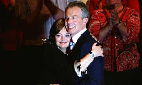 Cherie and Tony Blair before the signature selling incident