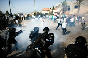 Israel Protest: Israeli riot police shoot tear gas during clashes in Umm el-Fahm