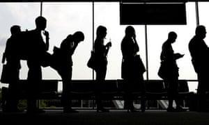 airport security queue
