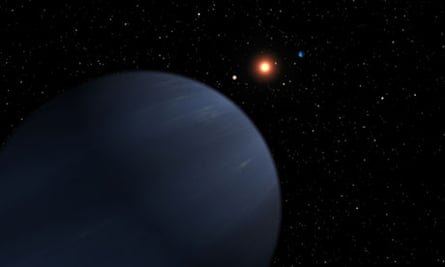 Artist's impresison of exoplanets orbiting a Sun-like star