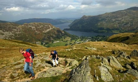Hikers in the Lake District