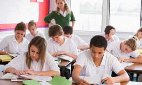 School pupils students in a classroom