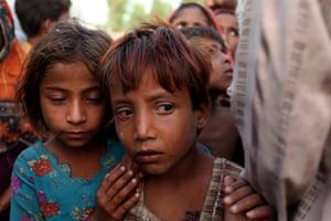 Pakistan floods- Punjab: Children from Chah Muslim Khan