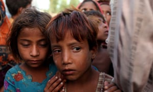 Pakistani children after the floods