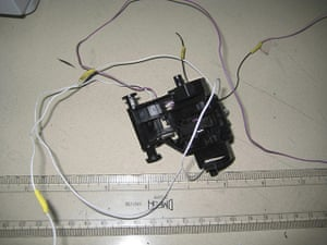 Cargo Terror: Parts of a printer contained in a parcel intercepted by Dubai security