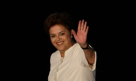 Workers Party (PT) Dilma Rousseff waves after the results of Brazil's general election in Brasilia