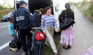 French police evacuate a Roma family in Villeneuve-d'Ascq, near Lille