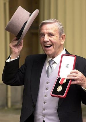 Norman Wisdom: Norman Wisdom after receiving his Knighthood