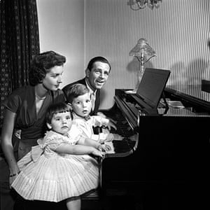 Norman Wisdom: Norman Wisdom with his wife Freda and  children Jacqueline and Nicholas
