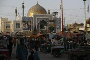 Sehwan Sharif Pakistan: The shrine in Sehwan Sharif, tomb of the saint Lal Shahbaz Qalandar