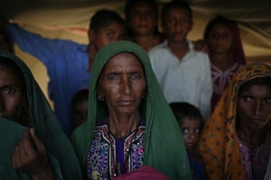 Sehwan Sharif Pakistan: Rehmat Chutto, a 50-year-old mother of 12 and flood refugee