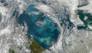 Satellite Eye on Earth  Bloom in Barent Sea