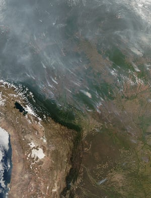 Satellite Eye on Earth  Fires in Bolivia