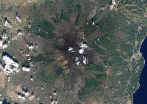 Satellite Eye on Earth  signs of activity at the summit of Mount Etna